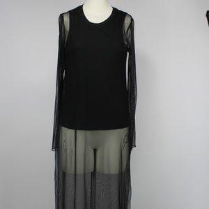Zara WB Long Sleeve Sheer Top